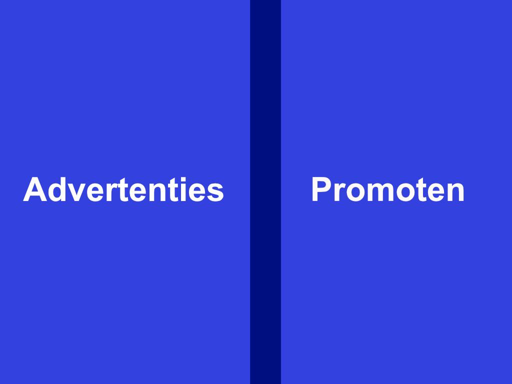 Facebook - advertenties vs promoten - IN ZICHT Marketing