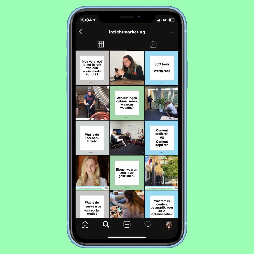 Instagram laten onderhouden - Social media kanaal - IN ZICHT Marketing