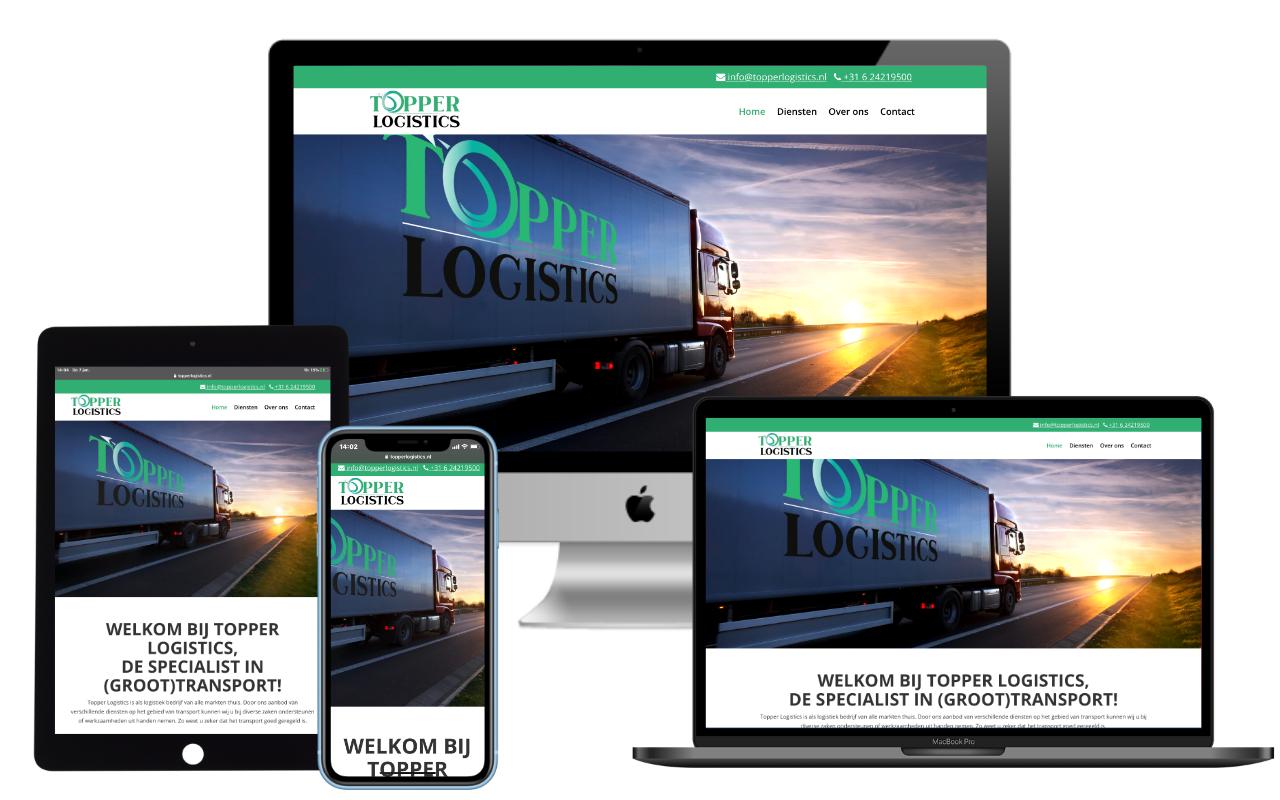 Website Topper Logistics - IN ZICHT Marketing