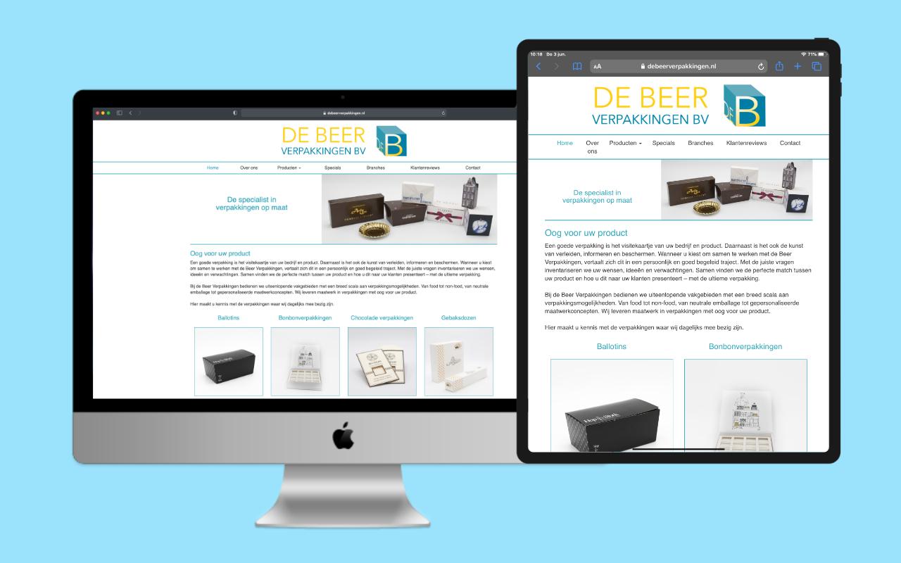 De Beer Verpakkingen beter vindbaar door seo optimalisatie - IN ZICHT Marketing